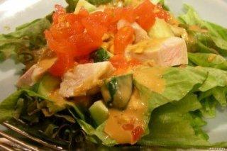 Receta de ensalada de pollo y patatas