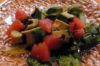Receta de ensalada de pomelo y aguacate