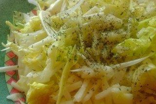 Receta de ensalada de puerro y manzana