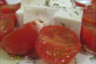 Receta de ensalada de queso fresco y tomate