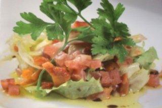 Receta de ensalada de salchichón y lomo ibérico con vinagreta