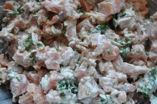 Receta de ensalada de salmón ahumado