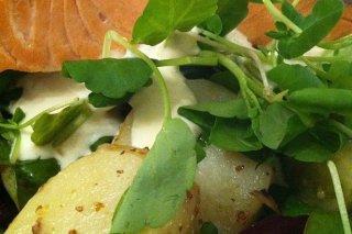 Receta de ensalada de salmón con patata