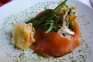 Receta de ensalada de salmón marinado