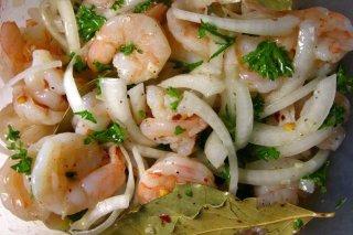 Receta de ensalada de surimi y camarones
