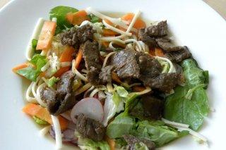 Receta de ensalada de tallarines con carne de ternera