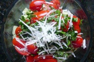 Receta de ensalada de tomate con queso azul