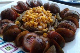 Receta de ensalada de tomate con reducción de vinagre