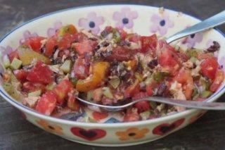 Receta de ensalada de tomate reposada