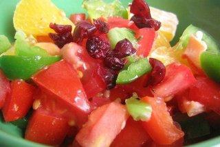 Receta de ensalada de tomate y fruta