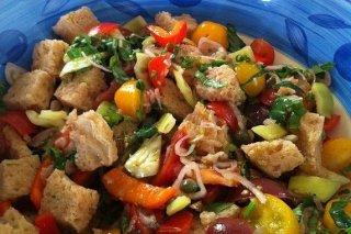 Receta de ensalada de tomate y pimiento
