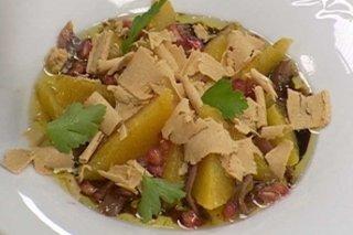 Receta de ensalada de turrón y frutas