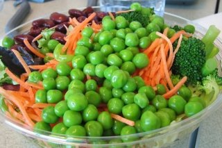 Receta de ensalada de verduras al vapor