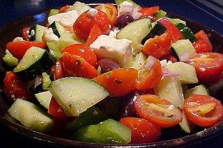 Receta de ensalada de verduras griega