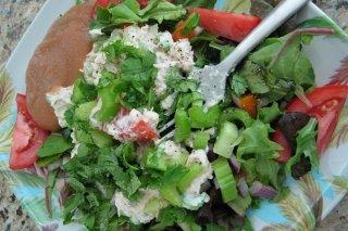Receta de ensalada de verduras verdes
