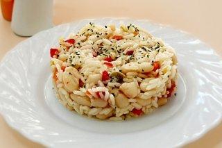 Receta de ensalada express de arroz con alubias