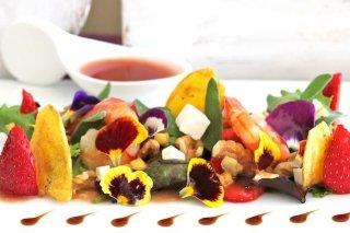 Receta de ensalada templada con fruta