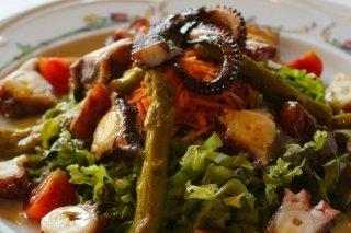 Receta de ensalada templada con pulpo