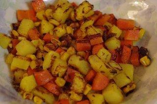 Receta de ensalada templada de patata y zanahoria
