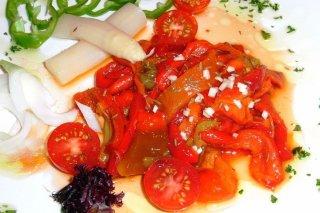 Receta de ensalada tibia de pimientos