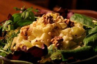 Receta de ensalada waldorf con piña