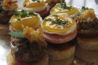 Receta de tartaletas de champiñones con huevo de codorniz