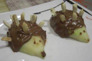 Receta de erizos de chocolate y pera