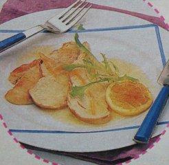 Receta de escalopines con limón glaseado
