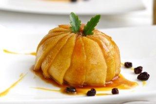 Receta de esfera de manzana rellena de pollo a la mostaza
