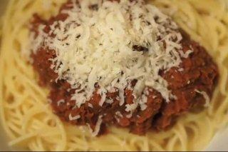 Receta de espaguetis boloñesa para vegetarianos