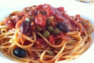 Receta de espaguetis con alcaparras