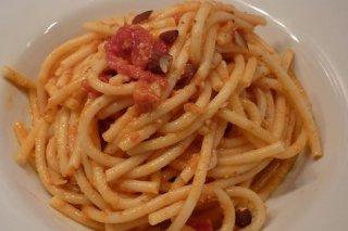 Receta de espaguetis con almendras