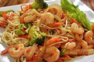Receta de espaguetis con brócoli y gambas