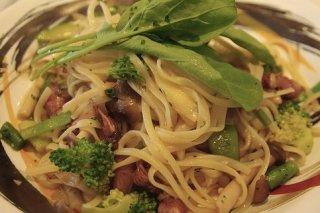 Receta de espaguetis con brócoli y setas