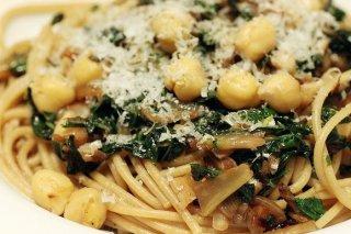 Receta de espaguetis con espinacas