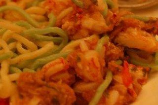 Receta de espaguetis con gambas salteadas