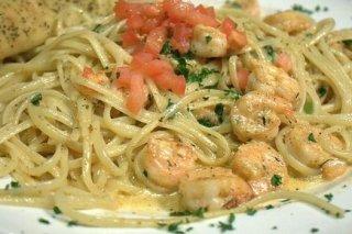 Receta de espaguetis con gambas y vinagreta