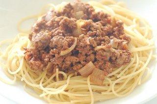 Receta de espaguetis con picadillo