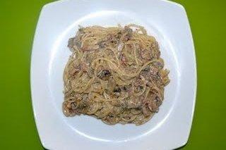 Receta de espaguetis con salsa de paté