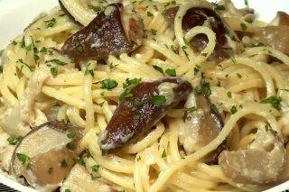Receta de espaguetis con setas