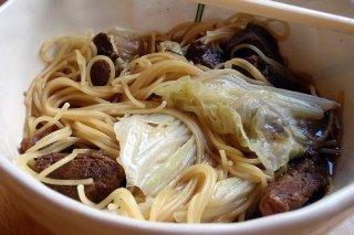 Receta de espaguetis con ternera y verdura