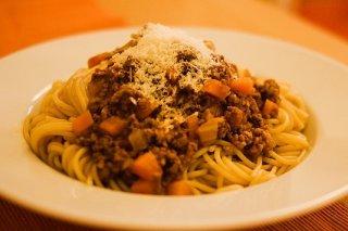 Receta de espaguetis con ternera y zanahoria