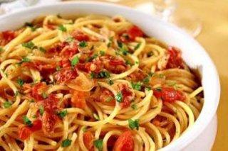 Receta de espaguetis con tocino