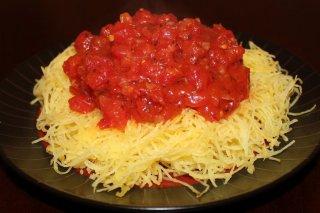 Receta de espaguetis de calabaza a la marinera