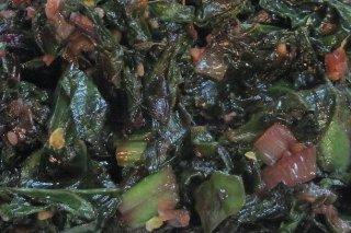 Receta de espinacas con soja