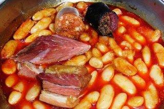Receta de fabes asturianas con jamón
