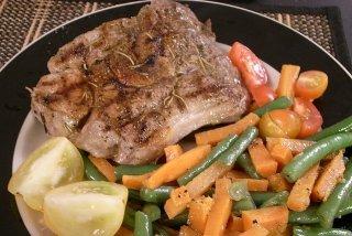 Receta de filete de cordero con verduras