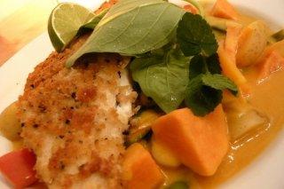 Receta de filete de merluza con verduras
