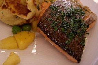 Receta de filete de pescado con manzana