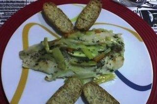 Receta de filete de pescado relleno